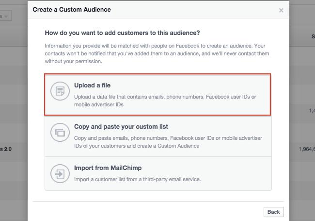 завантаження імейлів в фейсбук